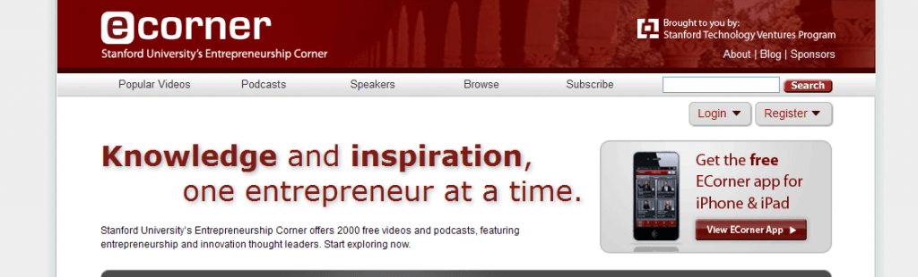 Stanford university Ecorner entrepreneur resource