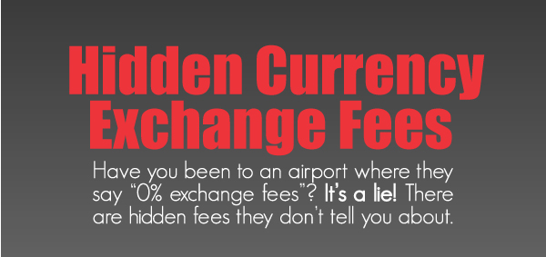 Hidden currency exchange fees