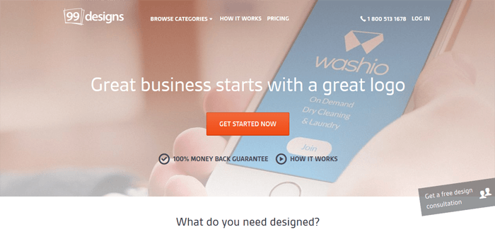 99designs for outsourcing design