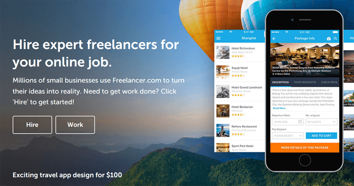 Freelancer.com online outsourcing marketplace
