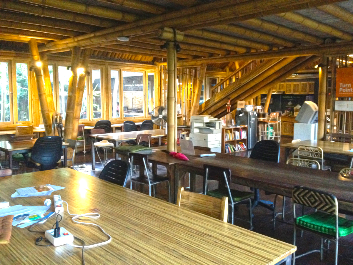 Hubud coworking space for digital nomads in Bali
