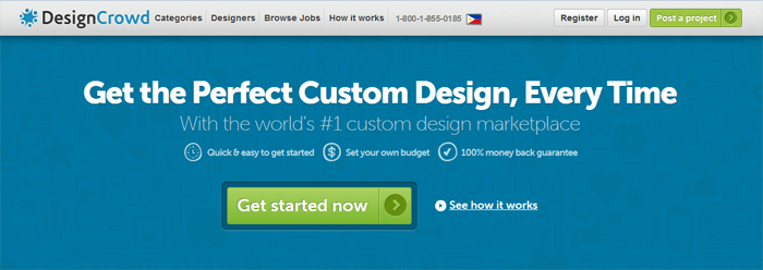 DesignCrowd custom design marketplace