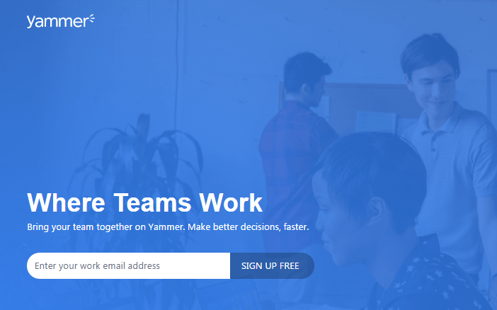 Yammer Is A Private Social Network That Helps Employees Collaborate Across Departments Locations And Business Apps
