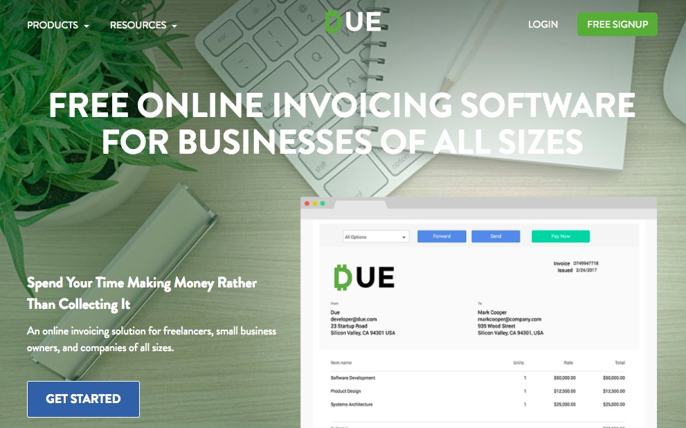 due invoicing software