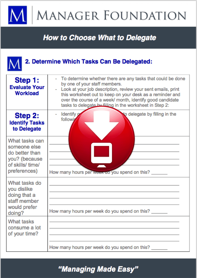 activity log delegation worksheet