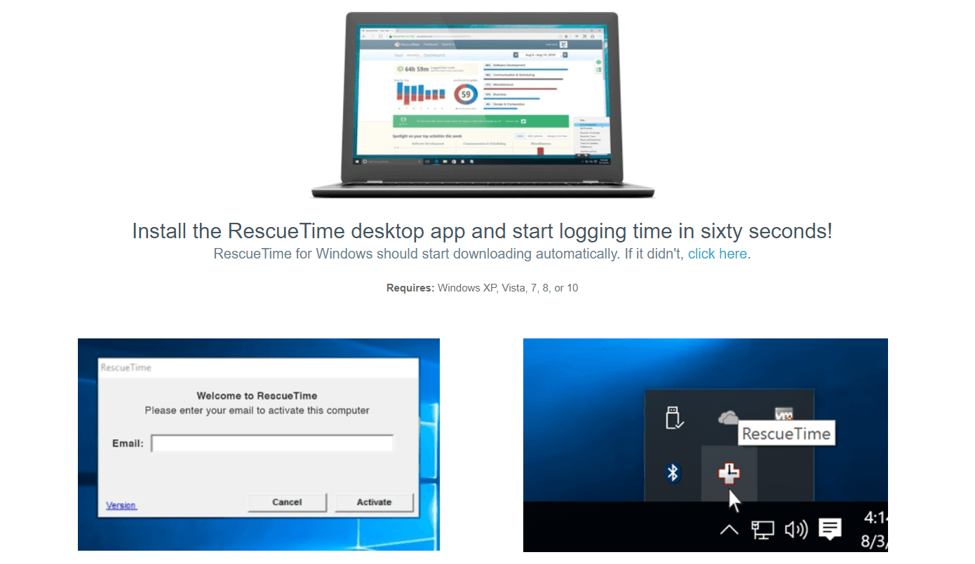 RescueTime software