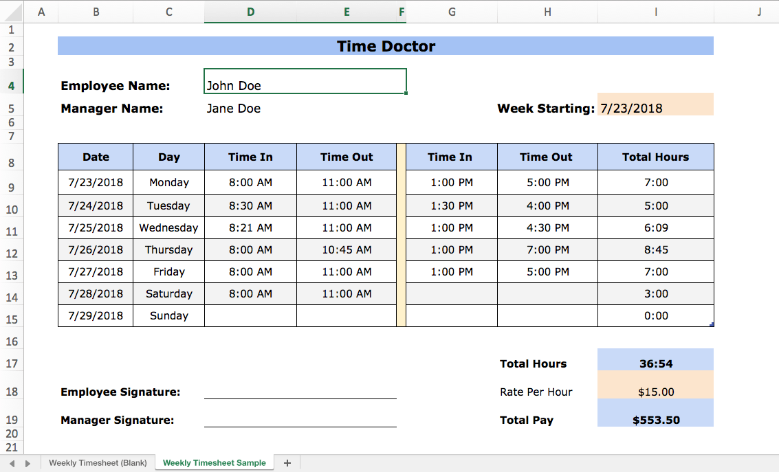 excel time tracking 4 templates pros and cons and. Black Bedroom Furniture Sets. Home Design Ideas