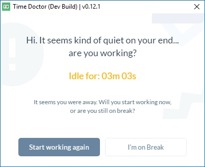 time doctor inactivity monitoring