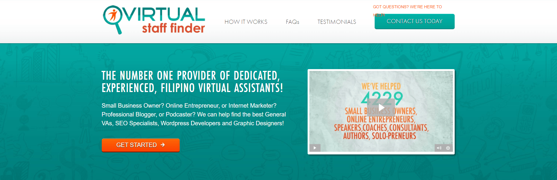 Virtual Staff Finder is a virtual assistant company