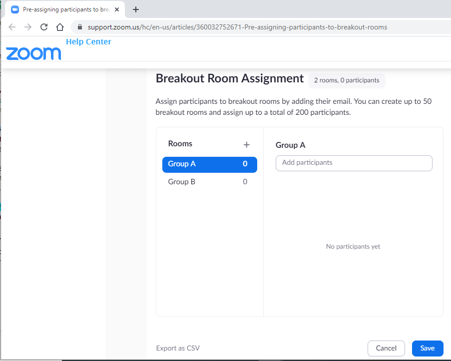 breakout room assignment