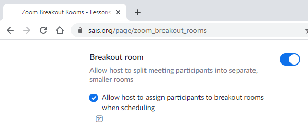 enable breakout rooms zoom