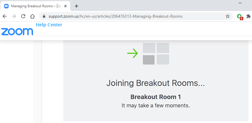 joining breakout rooms
