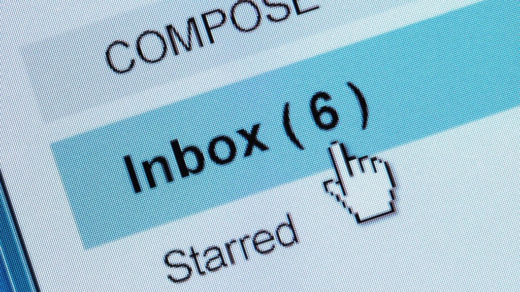 checking emails