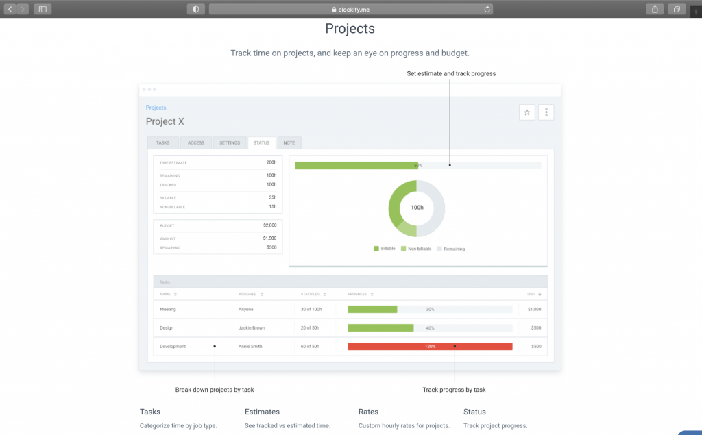 Clockify Project Management