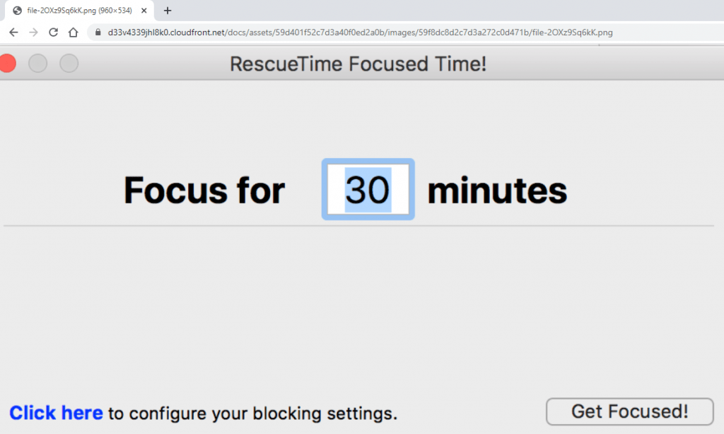 Rescuetime Focused Time Tracking