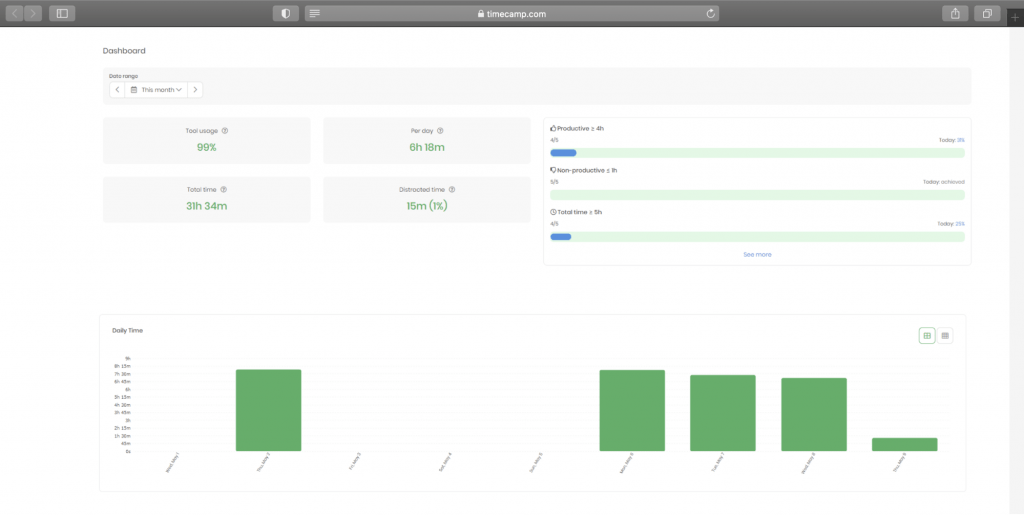 timecamp productivity tracking