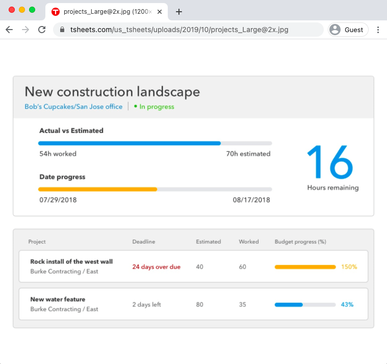 tsheets project report