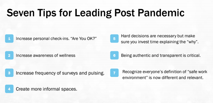 7 tips for leading post pandemic