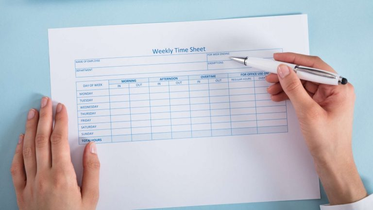 how to fill out a timesheet