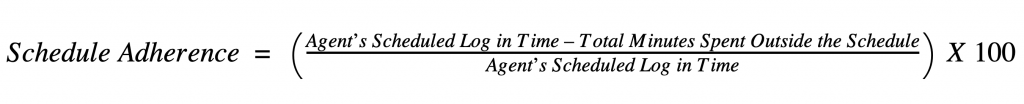 agent schedule adherence